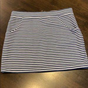 Stripped mini skirt 6 blue white